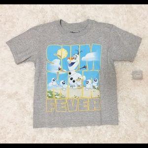 NEW Disney Store Boys Olaf Summer Fever Snowman XS
